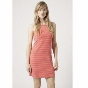 Orange and white stripe TOPSHOP dress - US 2